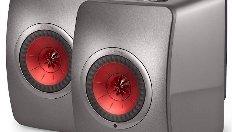 Image of Used  KEF LS50 Wireless Speakers Titanium (Pre-Owned)  for sale