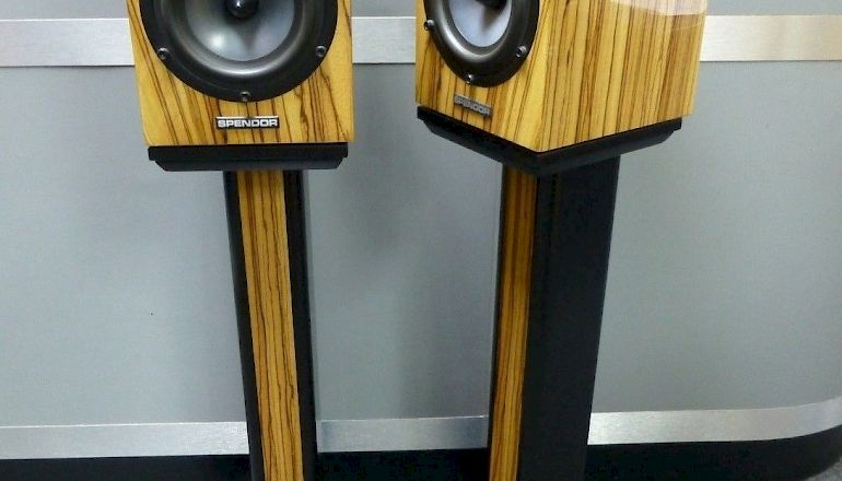 Image of Used  Spendor SA1 Standmount Speakers with Stands  for sale