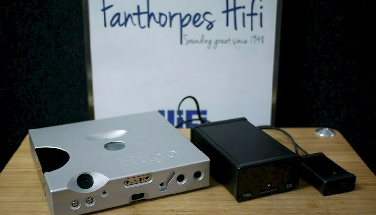 Image of Used  Chord Electronics Hugo TT DAC in Silver with MCRU Linear PSU  for sale