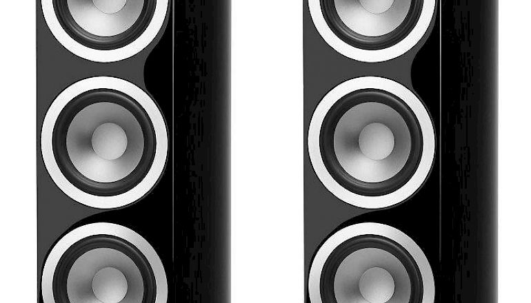 Image of Used  Tannoy Precision 6.4 Floorstanding Speakers High Gloss Black (Pre-Owned)  for sale