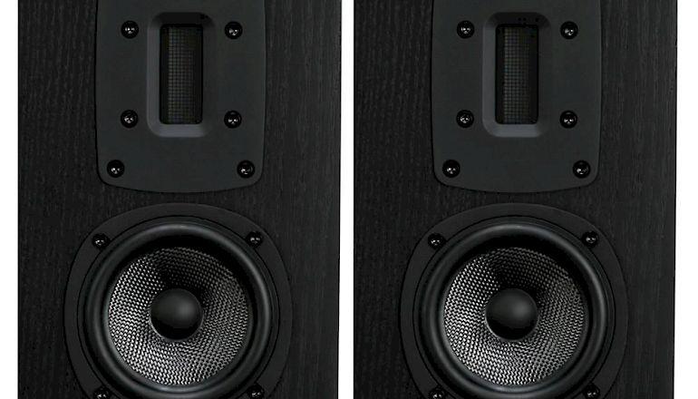 Image of Used  Quad S-2 Bookshelf Speakers Black Oak (Pre-Owned)  for sale
