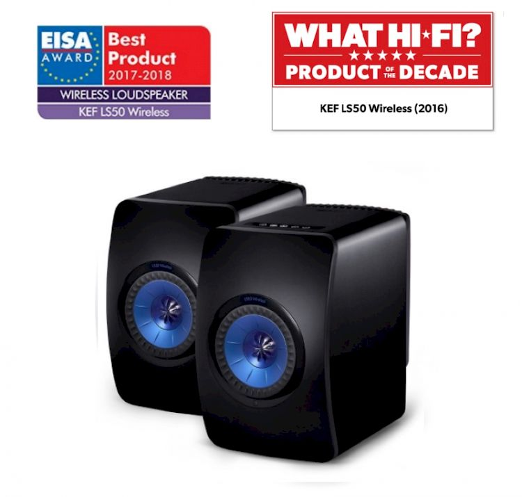 Thumbnail Image of KEF LS50 Wireless (Black/Blue) For sale at iDreamAV